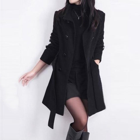 Clocolor Full Sleeve Autumn Winter Women Coat Jacket