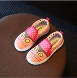 Girls canvas shoes spring Autumn Cartoon fox print Running Sneakers kids shoes