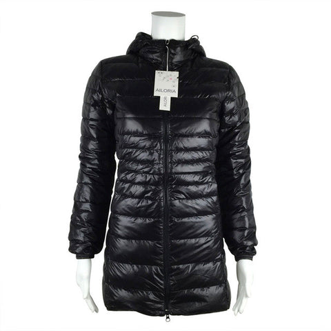 Winter Long Spring Autumn Overcoat Women Ultra Light 90%