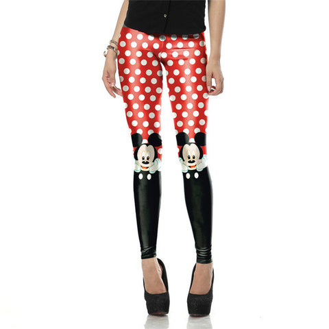 New Arrival Red legins Cute micky rat leggins