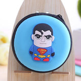 Super Heroes Silicone Coin Purse Key Wallet