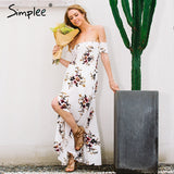 long dress women Off shoulder beach summer dress