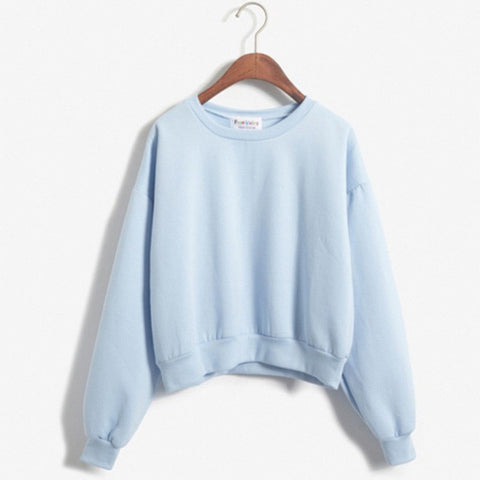 Women Crewneck Jacket Coat Sweater