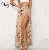 Women Beach Maxi Skirt High Waist Vintage