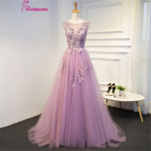 Purple Evening women Dresses Lace Up