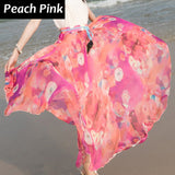 Flower Print Skirt Long Women Fashion Skirt