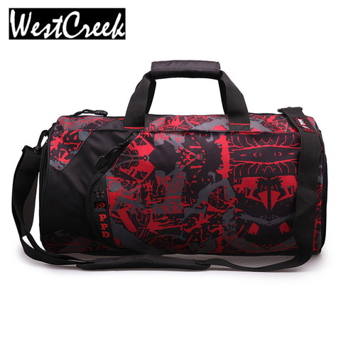 Men Camouflage Travel Bags Fashion Kit Bucket Shoe Bags