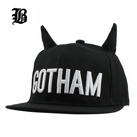 Men Womens Bones Gorras Snapbacks GOTHAM Hats