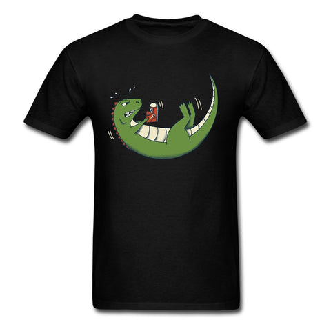 Dinosaur  O Neck Roupas Masculinas For Mens T Shirt
