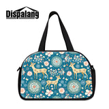 women's luggage travel bags cartoon animal drawing female duffle bag