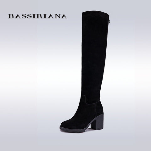 Women Winter Genuine Leather High Boots