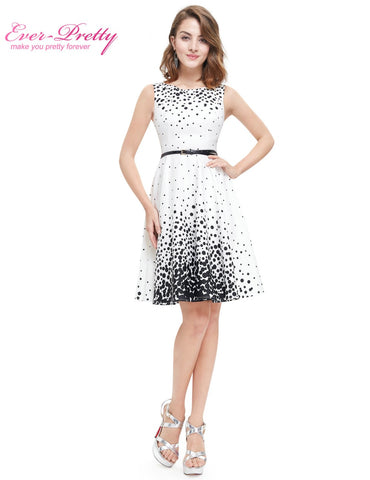 White Sweetheart Polka Dot  Sexy Party Homecoming Dress
