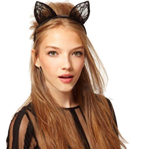 2015 Rushed Sale Hairband Cat Ears Hair Accessories for Girl Women Headband Animal Halloween Party Fancy Dress Costume Accessory