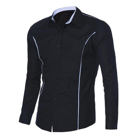 JECKSION Luxury Mens  Fashion Slim Fit Casual Long Sleeve