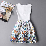 Summer Plus Size Women Print Floral Vest Dress