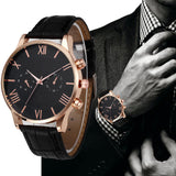 Luxury Men's Quartz Watch Leather Band