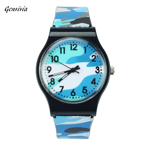 GENVIVIA Camouflage Wristwatch For Girls and Boys