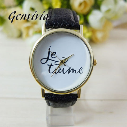 GENVIVIA Fashion Wrist watches Je Taime