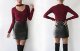 knitted sweater  v neck  women