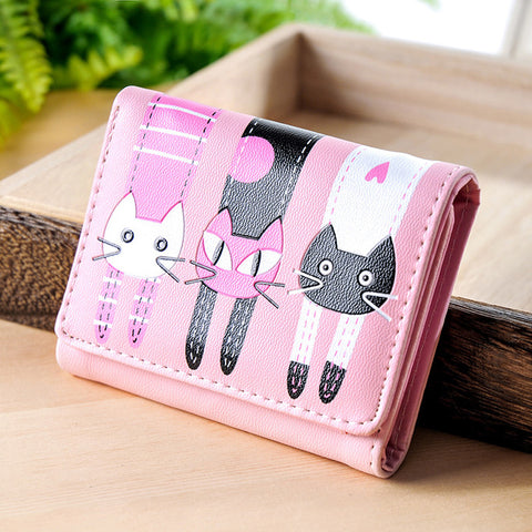 Women Wallets Lovely Purse  Cats Print