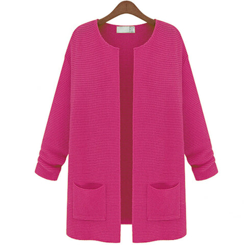 Women Knitwear Long Sleeve Wool  Sweater Coat Jacket