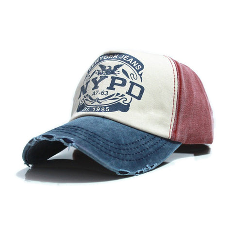 Fashion  NYPD Letter  Caps Unisex  women Cotton Baseball hat