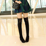 Slim Thigh High Boots Women Over the Knee Boots High Heels Woman