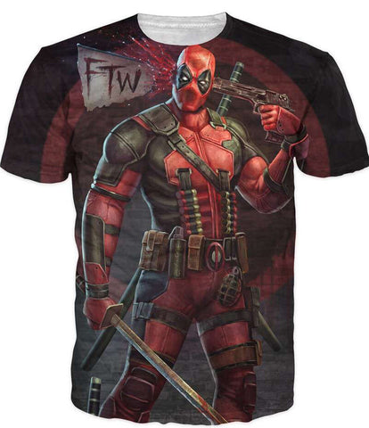 New Arrive American Comic  Deadpool T-Shirt Tees Men