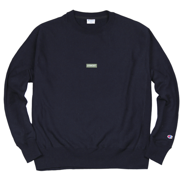 Solid Logo Patch Crewneck