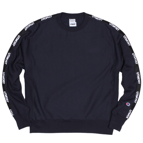 Solid Logo Tape Crewneck Sweatshirt