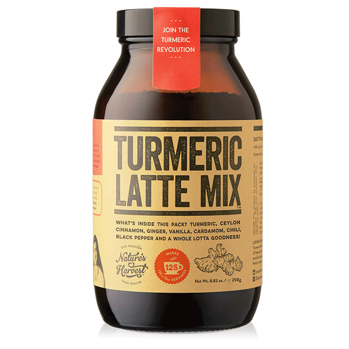 Turmeric Latte Mix 125 Serves 8.82oz Glass Jar $49.95
