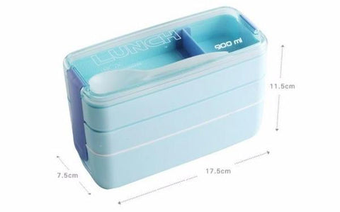 3 tier bento lunchbox dimensions, enough space to fit all your school treats!