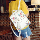 Floral Embroidered Korean Style Backpack