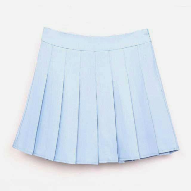 20a7d0ea90 Pastel Denim Pleated Skirt | Hitachi Club