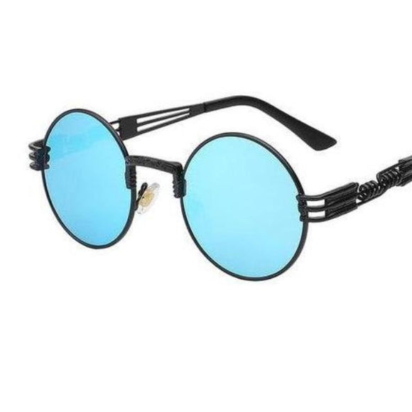 Colored Metal Frame Round Glasses