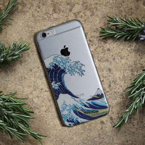 The Great Wave of Kanagawa Clear Phone Case