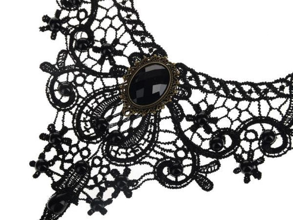 Gothic Lace Collar Necklace