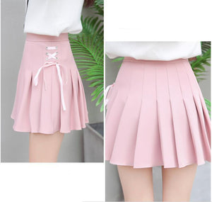 Pastel Harajuku High Waist Pleated SKirt