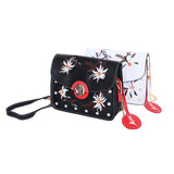 Korean Embroidered Leather Crossbody