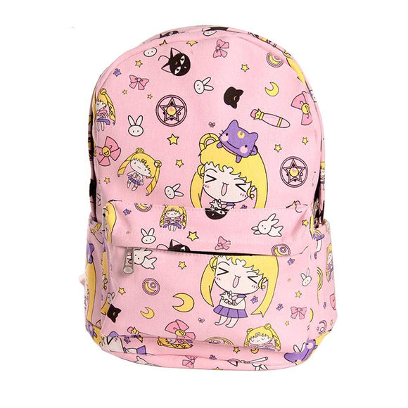 Anime Chibi Student Backpack