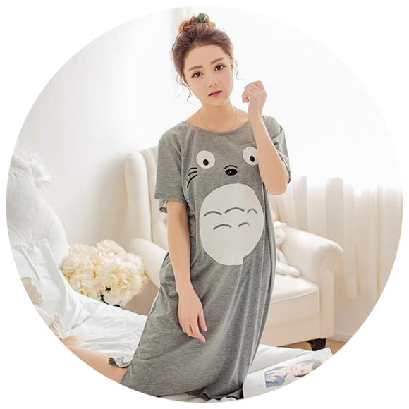 Totoro Inspired Night Shirt