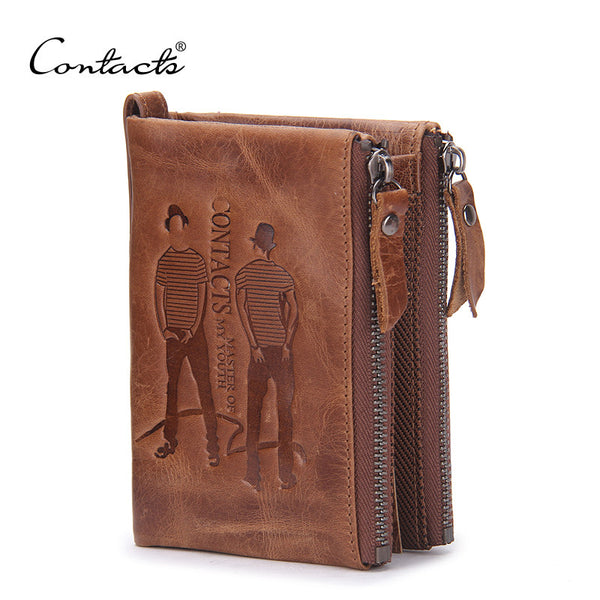 Wallets Top Genuine Cow Leather Vintage Design