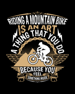 T-Shirt Pecinta Sepeda Riding A Mountain Bike Limited Edition