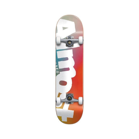 "Almost Skateboard Complete Side Pipe Fade Youth FP 7.375"" MID Multi-50-50 Skate Shop"