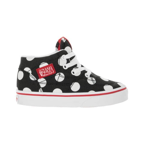 Vans Toddler Half Cab (Polka Dot) Black Fiery Red - 50-50 Skate Shop