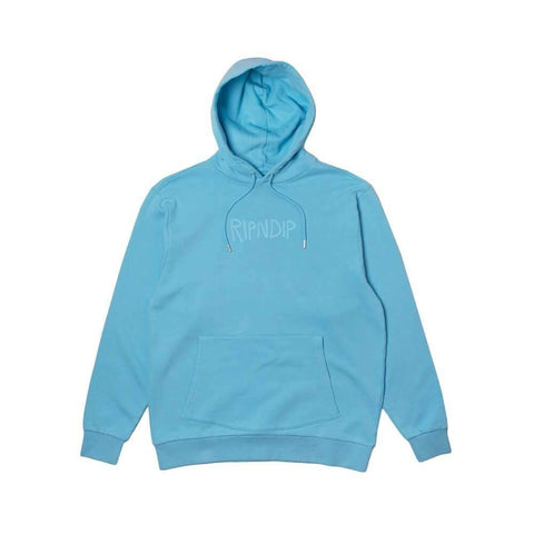 Ripndip Hoodie Rubber Logo Light Blue-50-50 Skate Shop