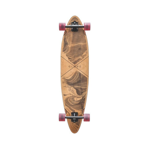 "Globe Skateboard Cruiser Complete Pinner 41"" Marbled Black-50-50 Skate Shop"