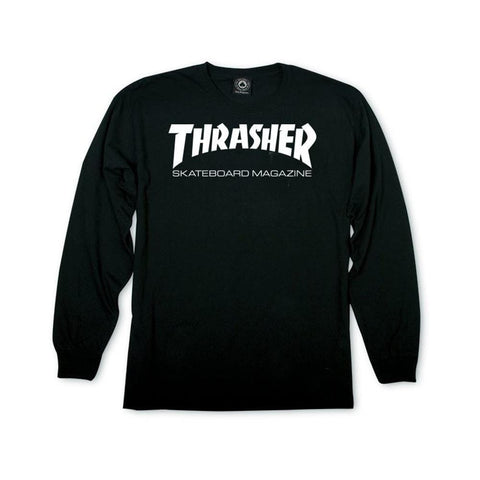 Thrasher Skate Mag Long Sleeve Tee Black - 50-50 Skate Shop