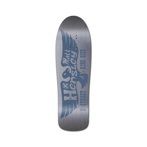 "H-Street Skateboard Deck Matt Hensley Kingsize LTD Edition Eagle Hell Concave 9.75"" x 32"" Metallic Silver-50-50 Skate Shop"