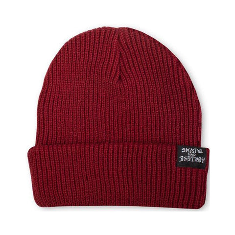 Thrasher Skategoat Skate And Destroy Beanie Burgundy-50-50 Skate Shop